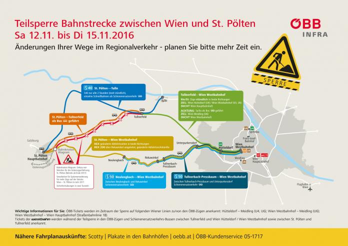 Bb westbahnstrecke teilsperre zwischen wien und st for Grafik praktikum wien
