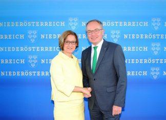 Landeshauptfrau Johanna Mikl-Leitner und LH-Stellvertreter Stephan Pernkopf gaben heute den Startschuss für ein neues Landesentwicklungskonzept. (Bildquelle: ReschMedia)