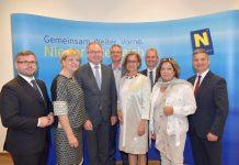 Landeshauptfrau Johanna Mikl-Leitner lud zur ersten gemeinsamen Regierungsklausur aller Regierungsmitglieder nach Klosterneuburg. (Bildquelle: NLK / Johann Pfeiffer)