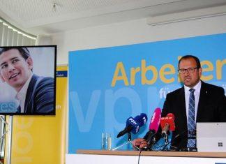VPNÖ-Landesgeschäftsführer LAbg. Bernhard Ebner informiert über das NÖ Vorzugsstimmen-Modell zur kommenden Nationalratswahl auf Wahlkreisebene. (Bildquelle: Thomas Resch)