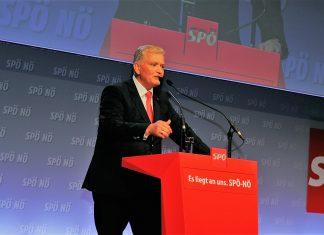 Franz Schnabl mit 98,8 % der Delegiertenstimmen zum neuen SPNÖ-Landesparteivorsitzenden gewählt (Bildquelle: Thomas Resch)