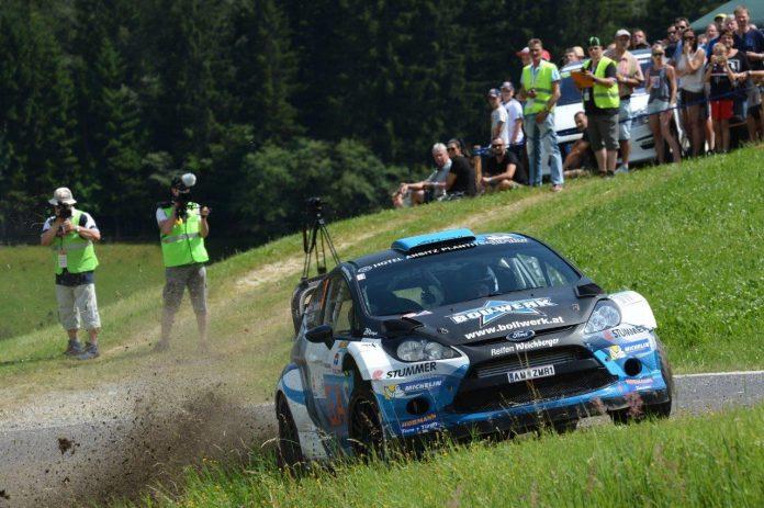 Der Salzburger Hermann Neubauer gewinnt mit seinem Ford Fiesta WRC die Rallye Weiz 2017. (Bildquelle: Harald Illmer)