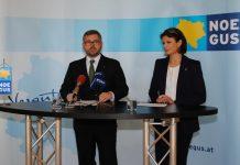 (v.l.n.r.): NÖGUS-Vorsitzender DI Ludwig Schleritzko und NÖGUS-Geschäftsführerin Mag. Elfriede Riesinger bei der Pressekonferenz in St. Pölten. (Bildquelle: Thomas Resch)