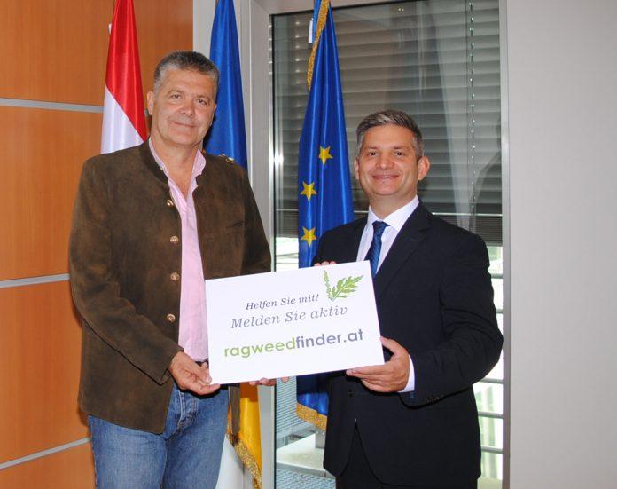Erster Ragweed-Finder von Landesrat Ing. Maurice Androsch und Uwe E. Berger von der Medizinischen Universität Wien vorgestellt (Bildquelle: Thomas Resch)