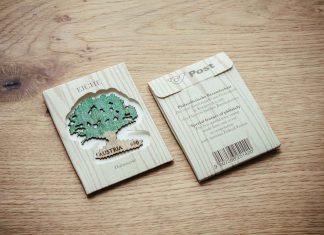 Österreichs erste Sonderbriefmarke aus Holz (Bildquelle: Studio Riebenbauer)
