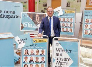 """VPNÖ-Landesgeschäftsführer Bernhard Ebner: """"Wir startet am 23. September unseren dreiwöchigen Nationalratswahlkampf"""". (Bildquelle: Volkspartei NÖ)"""