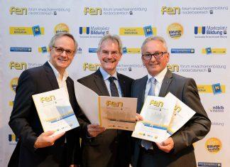 v.l.n.r.: WIFI-Geschäftsführer Andreas Hartl, Landesrat Karl Wilfing, LAbg. Karl Bader (Bildquelle: NLK Pfeiffer)