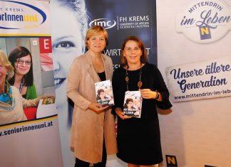(v.l.n.r.): Landesrätin Barbara Schwarz und FH-Krems Geschäftsführerin Ulrike Prommer gaben die Fortführung der NÖ Senioren-Universität bekannt. (Bildquelle: Thomas Resch)