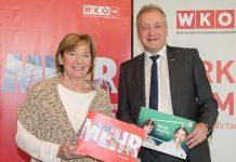 WKNÖ-Präsidentin Sonja Zwazl und WKNÖ-Direktor Franz Wiedersich bei der Präsentation der Leistungsbilanz (Bildquelle: Kraus)