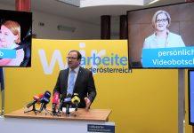 VPNÖ-Landesgeschäftsführer LAbg. Bernhard Ebner präsentiert die Digital-Kampagne zur NÖ-Wahl 2018. (Bildquelle: Thomas Resch)