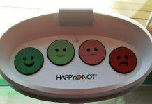 """Das von der ASFINAG installierte Bewertungssystem """"Happy or not"""" (Bildquelle: Thomas Resch)"""
