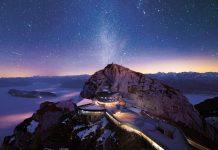 Eine Übernachtung ganz nah bei den Sternen – auf Pilatus Kulm ist dies ganzjährig möglich (Bildquelle: Pilatus-Bahnen AG / swiss-image.ch / Severin Pomsel)