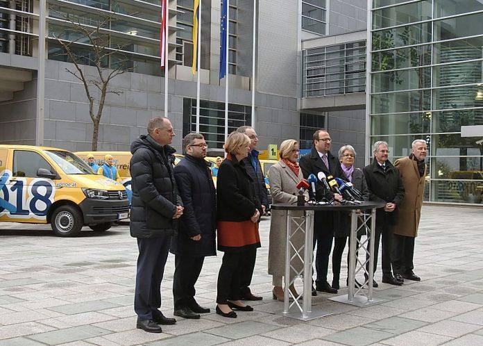 Start des Konvois in den Intensivwahlkampf (Bildquelle: Thomas Resch)