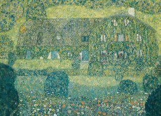 Gustav Klimt, Forsthaus in Weißenbach I (Landhaus am Attersee), 1914, laut Restitutionsgesetz im Jahre 2001 an die rechtmäßigen Erben restituiert (Bildquelle: Belvedere Wien)