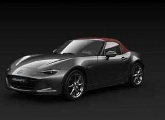Das kirschrote Verdeck macht den MX-5 Takumi von Mazda zum Highlight im Frühling (Bildquelle: Mazda)