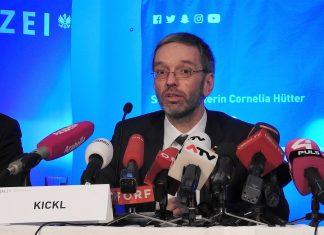 Innenminister Herbert Kickl präsentiert die neue Rekrutierungs- und Imagekampagne der Polizei (Bildquelle: Thomas Resch)
