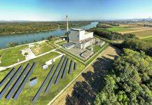 Das Kernkraftwerk Zwentendorf mit Sonnenkraftwerk (Bildquelle: EVN)