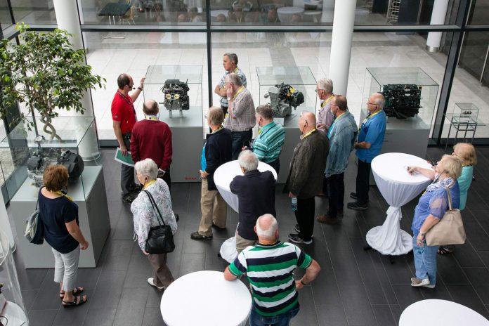 Ehemalige Mitarbeiter beim BRP-Rotax Pensionistentag 2018 (Bildquelle: cityfoto.at)