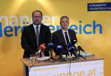 (v.l.n.r.): VPNÖ-Landesgeschäftsführer Bernhard Ebner und LAbg. Hermann Hauer bei der Pressekonferenz in St. Pölten (Bildquelle: Thomas Resch)