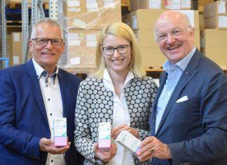 (v.l.n.r.:) IWS-GF Prof. Gottfried Kneifel, LR Mag. Christine Haberlander und Firmenchef Dr. Johann Kwizda (Bildquelle: Land OÖ)