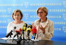 (v.l.n.r.): Wirtschaftskammerpräsidentin Sonja Zwazl und Landeshauptfrau Johanna Mikl-Leitner informieren über den NÖ Begabungskompass (Bildquelle: Thomas Resch)