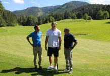 (v.l.n.r.): Sebastian Wittmann, Wladimir Klitschko, Franz Wittmann (Bildquelle: Golfclub Adamstal)