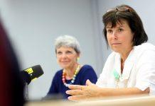 (v.l.n.r.): Direktorin Wilma Steinbacher und Landesrätin Birgit Gerstorfer bei der Pressekonferenz (Bildquelle: Land OÖ/ Denise Stinglmayr)