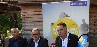 (v.l.n.r.): Burgenland Tourismus-Geschäftsführer Hannes Anton, Landeshauptmann Hans Niessl und Tourismuslandesrat MMag. Alexander Petschnig (Bildquelle: Thomas Resch)