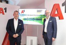 A1 CEO Marcus Grausam und Landeshauptmann-Stellvertreter Dr. Michael Strugl (Bildquelle: Land OÖ / Vanessa Ehrengruber)