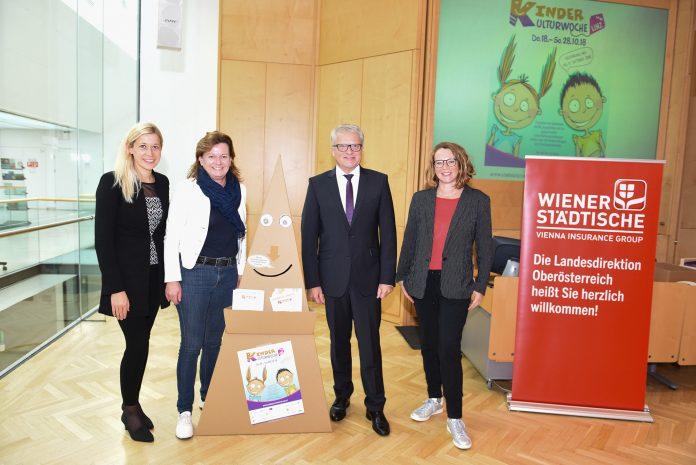 (v.l.n.r.): Stadträtin Doris Lang-Mayerhofer, Vizebürgermeisterin Karin Hörzing, Bürgermeister Klaus Luger und Stadträtin Mag.a Eva Schobesberger (Bildquelle: zVg)