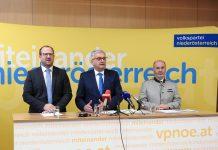 (v.l.n.r.): VPNÖ-Landesgeschäftsführer Bernhard Ebner, Gemeindebundpräsident Alfred Riedl und Gemeindesprecher Josef Balber (Bildquelle: Thomas Resch)