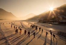 Natureislauf in den Morgenstunden während der 11-Städte Tour (Bildquelle: Weissensee Information / Stefan Valthe)