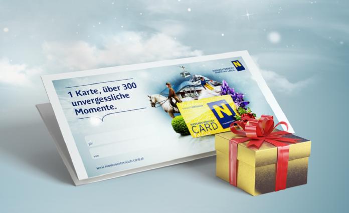 Niederösterreich-CARD Gutschein als ideales Weihnachtsgeschenk (Bildquelle: www.niederoesterreich-card.at)