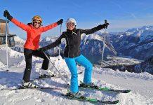Perfekte Pistenverhältnisse herrschen derzeit in Oberösterreichs Skigebieten, hier im Skigebiet Feuerkogel in Ebensee am Traunsee, Salzkammergut (Bildquelle: Reinhard Hörmandinger)