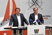 (v.l.n.r.): Landesgruppen-Obmann Wolfgang Ecker und NÖ Wirtschaftsbund - Direktor Harald Servus bei der Pressekonferenz in St. Pölten (Bildquelle: Thomas Resch)