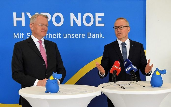 Die beiden Vorstände Udo Birkner (links) und Wolfgang Viehauser bei der Pressekonferenz in St. Pölten (Bildquelle: Thomas Resch)
