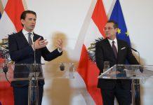 (v.l.): Bundeskanzler Sebastian Kurz (ÖVP) und Vizekanzler Heinz-Christian Strache (FPÖ) bei der Pressekonferenz nach dem Ministerrat am 6. März 2019 in Wien (Bildquelle: Guten Tag Österreich)