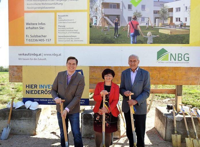 Spatenstich für 30 neue Wohnungen in Tulbing