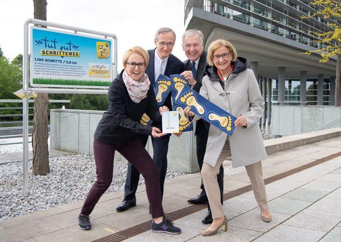 """St. Pölten: """"Tut gut""""- Schritteweg im Landhausviertel eröffnet"""