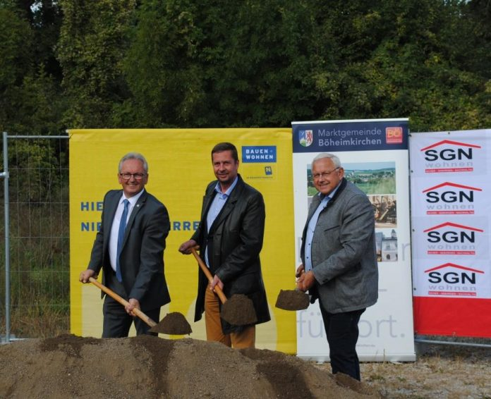 (v.l.n.r.): Bundesratspräsident Karl Bader, KommR Martin Weber, MSc und Bürgermeister Johann Hell