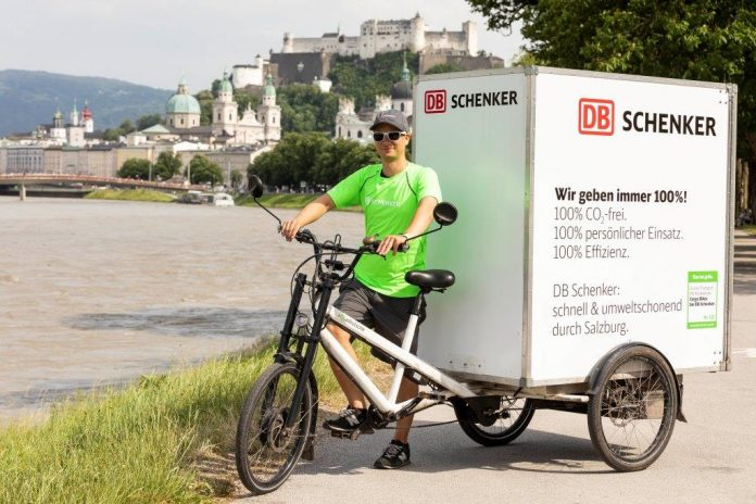 DB Schenker setzt in Salzburg auf Cargo Bikes