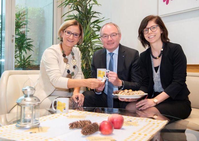 "Landeshauptfrau Johanna Mikl-Leitner, LH-Stellvertreter Stephan Pernkopf und ""So schmeckt NÖ""-Leiterin Michaela Hauß"