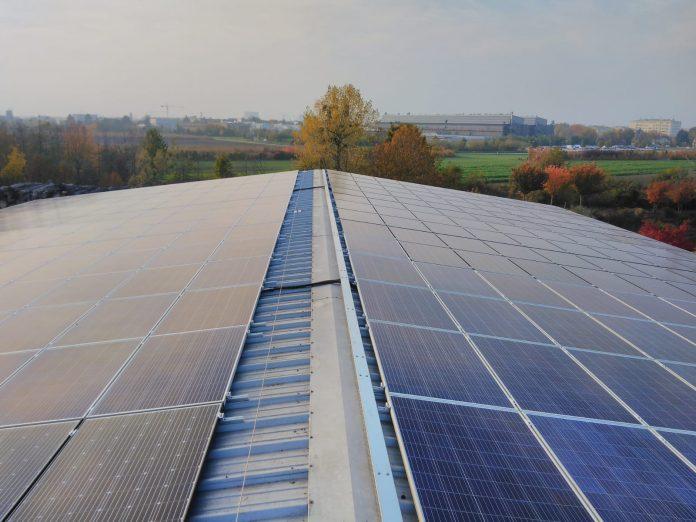 Photovoltaik-Anlage am Biomasseheizwerk Tulln