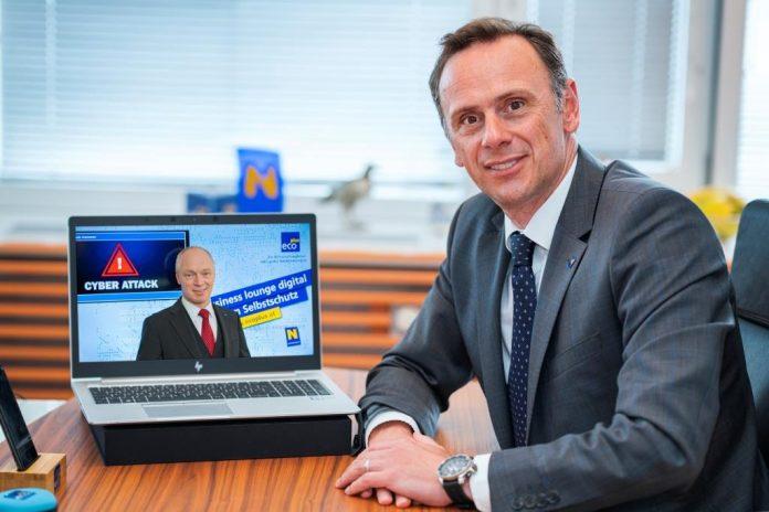 Wirtschafts- und Digitalisierungslandesrat Jochen Danninger und ecoplus Geschäftsführer Helmut Miernicki (digital)