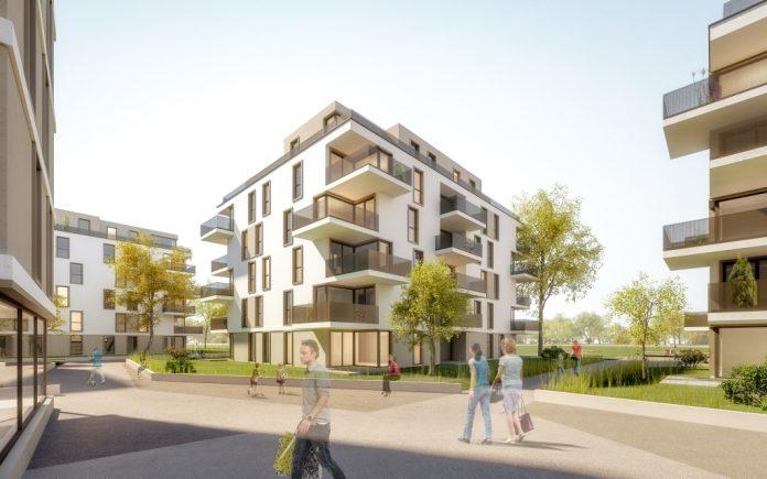Schlüsselübergabe der neuen Wohnhausanlage in Schwechat