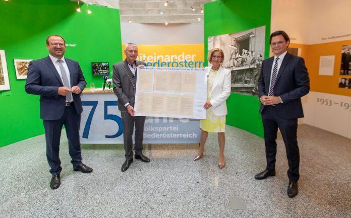 Volkspartei Niederösterreich feiert 75-Jahr-Jubiläum