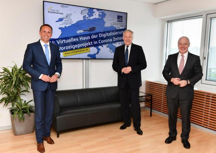 (v.l.n.r.): Landesrat Jochen Danninger, Landesrat Martin Eichtinger und ecoplus Geschäftsführer Helmut Miernicki