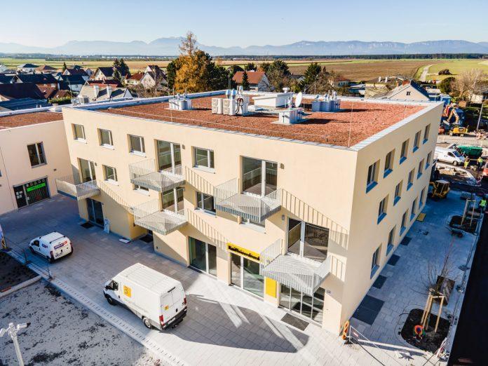 Die neue Wohnhausanlage am Hauptplatz 5 in Lanzenkirchen (Bildquelle: Herz und Auge Fotografie - Stefan Seyfert)