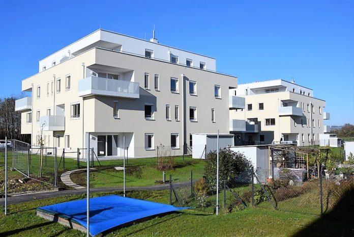 Die neue Wohnhausanlage der NBG in Amstetten, Gabriele Possanner Straße 1 und 3 (Bildquelle: NBG)