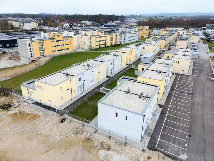 Die neue Wohnhausanlage der WETgruppe in Amstetten-Neufurth, Wilhelm Vogl-Straße/ Friedrich Steinhäufl-Straße (Bildquelle: Herz und Auge Fotografie - Stefan Seyfert)